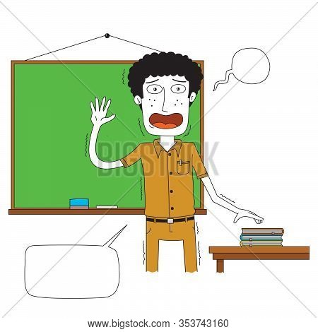 Illustration Of A Teacher Teaching For The First Time