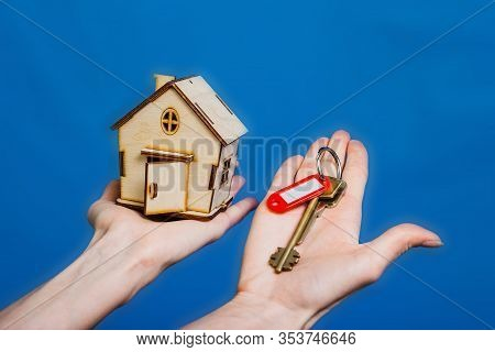 Real Estate Concept. Buying And Selling Homes. Debt And Loan. Purchase. Home Sold. Realtor And Real