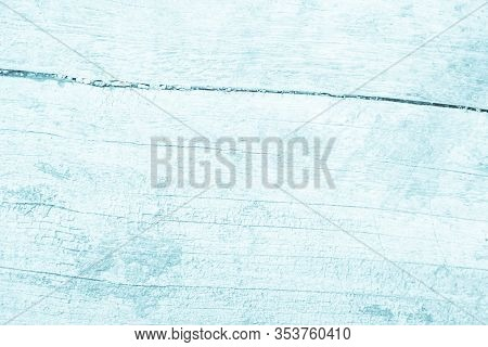 Old Grunge Wood Plank Texture Background. Vintage Blue Wooden Board Wall Antique. Painted Weathered