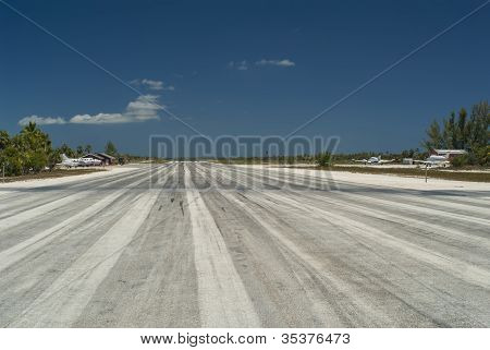Center Of Airport Runway