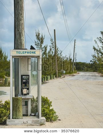 Phone Booth At The End Of The Road