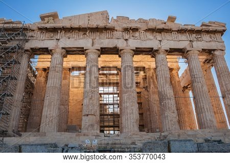 Parthenon In The Acropolis Of Athens, West Pediment