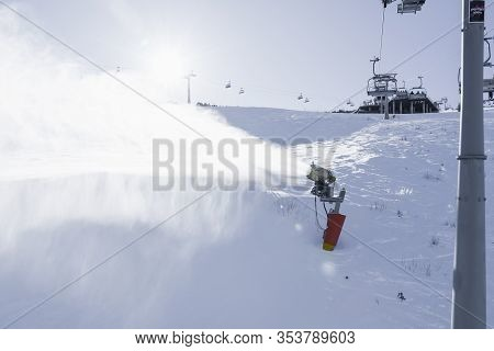 Machine Gun Snowmaking