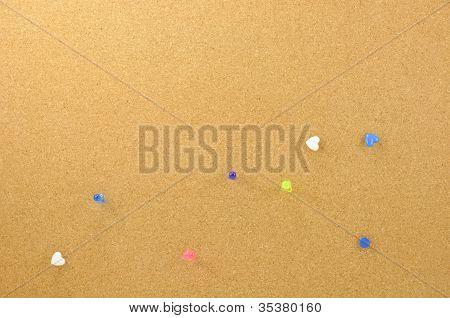 Corkboard with pushpin