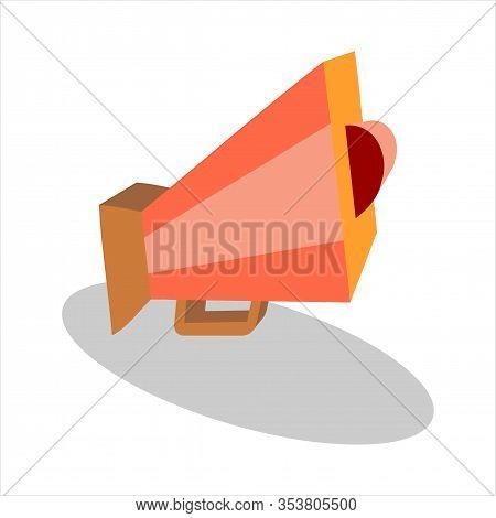 Isometric Speaker Icon. Speaker Icon Vector Flat Illustration For Graphic And Web Design Isolated On