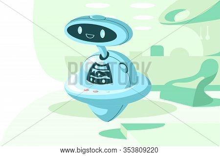 Automatic Modern Robot Vector Illustration. Automatization Artificial
