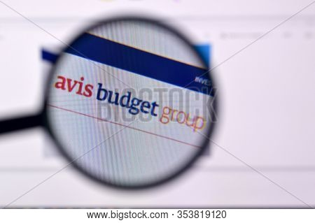 Homepage Of Avis Budget Group Website On The Display Of Pc, Url - Avisbudgetgroup.com.