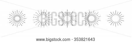 Starburst Set On A White Background. Isolated Background. Vector