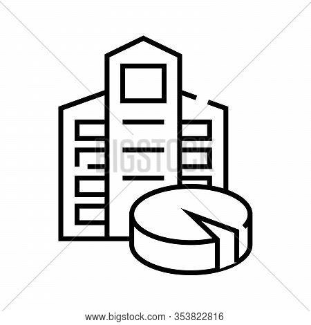 Shareholders Dole Line Icon, Concept Sign, Outline Vector Illustration, Linear Symbol.