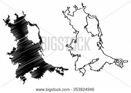 Palermo City (italian Republic, Italy, Sicily) Map Vector Illustration, Scribble Sketch City Of Pale