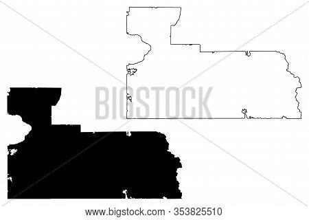 Orange County, Florida (u.s. County, United States Of America, Usa, U.s., Us) Map Vector Illustratio