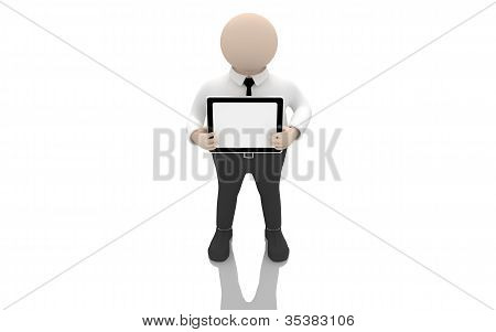 Office scenes (The clerk holding a tablet PC)