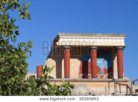 Knssos palace at Crete in Greece