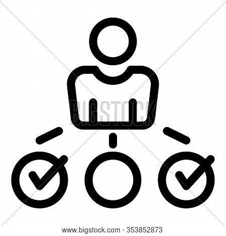 Entrepreneur Scheme Icon. Outline Entrepreneur Scheme Vector Icon For Web Design Isolated On White B