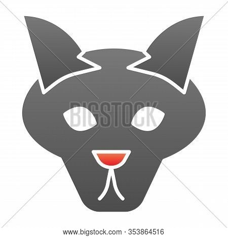 Wolf Head Flat Icon. Coyote, Wild Animal Face, Simple Silhouette. Animals Vector Design Concept, Gra