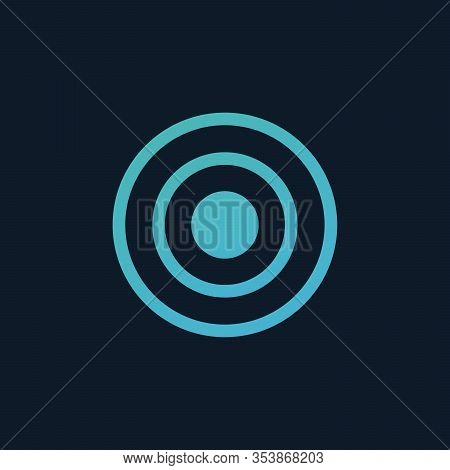 Target Rings. Epicenter Mark. Circle Waves. Stock Vector Illustration Isolated On White Background.