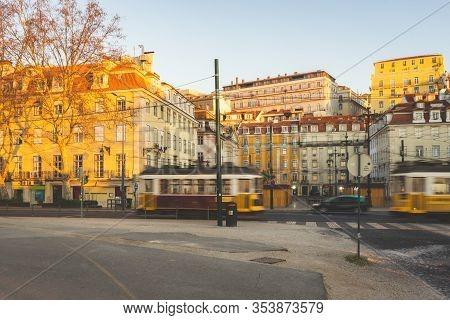 Streets Of Lisbon, Downtown, Lisboa, Portugal, 22 Februari 2020