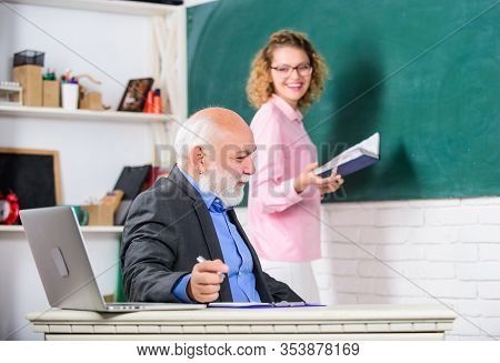 Teacher And Student School Lesson. Regular School Lesson. Tips For Successful Lesson. Education Is P