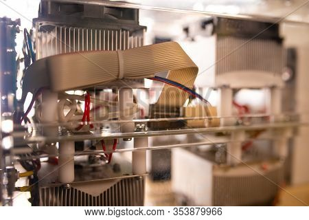 Factory Machines Of Large-sized Industrial Equipment Are Manufactured At A Specialized Factory. Conc