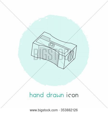 Pencil Sharpener Icon Line Element. Vector Illustration Of Pencil Sharpener Icon Line Isolated On Cl