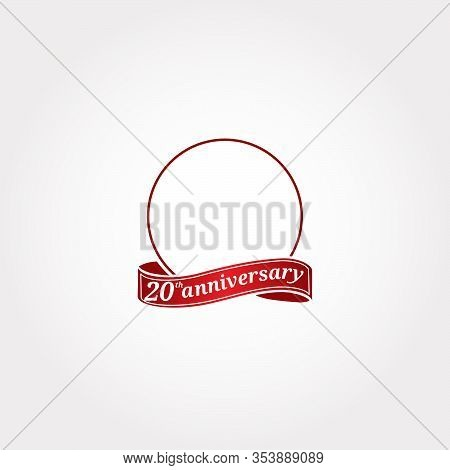 Template Logo 20th Anniversary With A Circle And The Number 20 In It And Labeled The Anniversary Yea