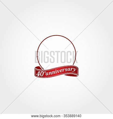 Template Logo 40th Anniversary With A Circle And The Number 40 In It And Labeled The Anniversary Yea