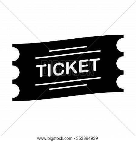 Ticket Admission Entrance Pass Symbol Black Vector Illustration On White Background