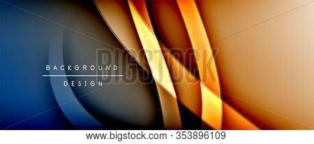 Dynamic trendy fluid color gradient abstract background with flowing wave lines. Illustration For Wallpaper, Banner, Background, Card, Book Illustration, landing page, cover, placards, poster, banner