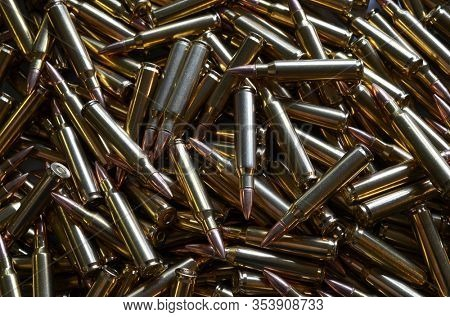 Assault rifle ammo 5.56 NATO for use background