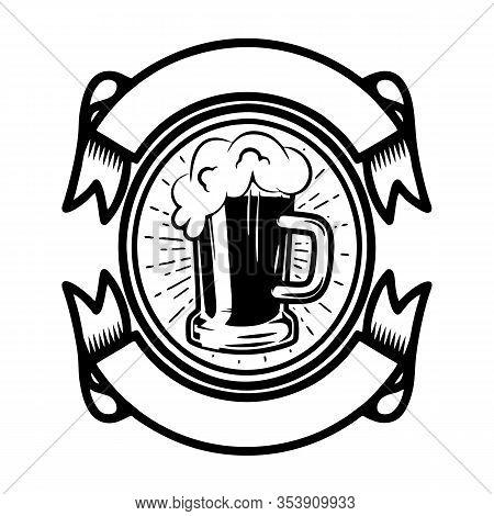 Vintage Beer Logo Isolated Label Vector Illustration. Beer Brewing Company Logo Symbol. The Best Qua