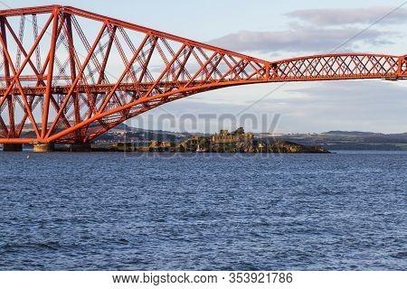 Inchgarvie And The Forth Bridge, Scotland