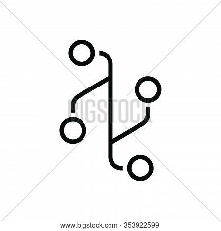 Black Line Icon For Version Translation Rendering Adaptation Text Layout Adaptation Condensation Por