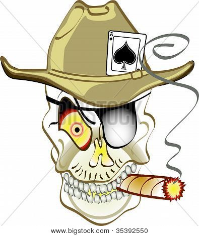 Skull Or Jolly Roger Cowboy