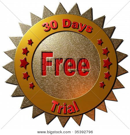 30 days free trial (red & gold)