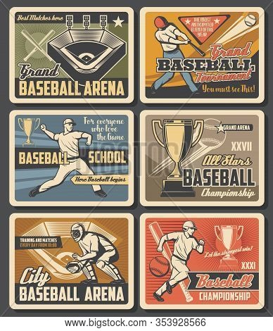 Baseball Victory Cup Championship, Team League Playoff Tournament At Grand Arena Vintage Retro Poste