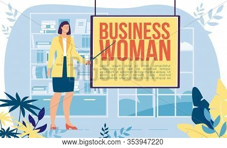 Businesswoman Career, Company Ceo Occupation, Successful Entrepreneur Or Office Employee Job Trendy