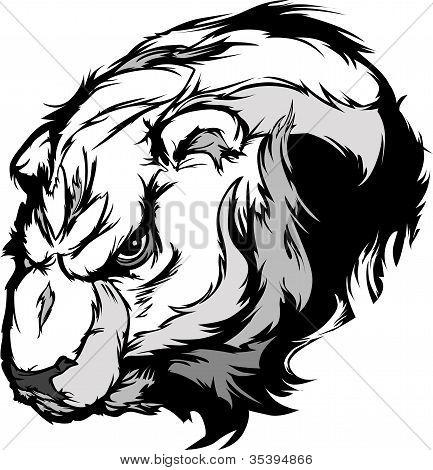 Cartoon Vector Mascot Image of a Polar Bear Head poster