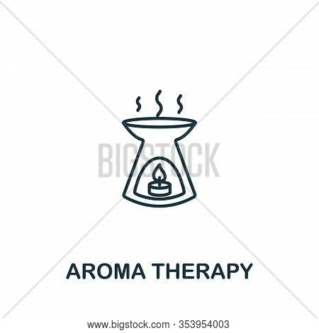 Aroma Therapy Icon From Spa Therapy Collection. Simple Line Element Aroma Therapy Symbol For Templat
