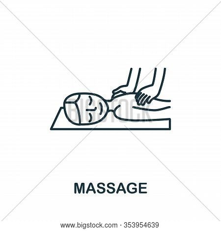 Massage Icon From Spa Therapy Collection. Simple Line Element Massage Symbol For Templates, Web Desi