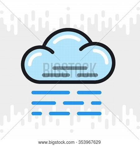 Fog, Mist Or Haze Icon For Weather Forecast Application Or Widget. Color Version On Light Gray Backg