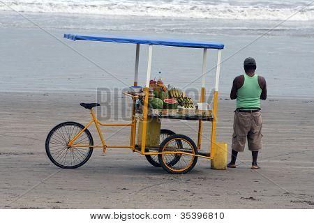 Juice Cart on the Beach