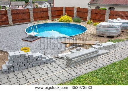 Swimming Pool Under Construction