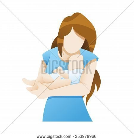 Vector Illustration Mother With Newborn Baby