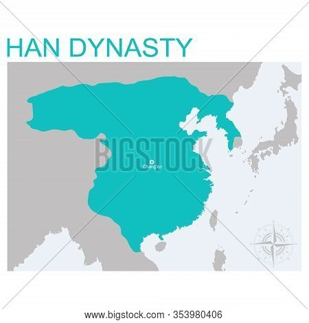 Vector Map Of The Han Dynasty For Your Design