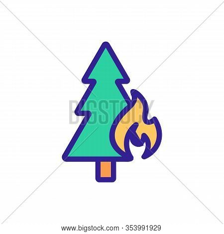 The Forest Is Burning The Icon Vector. Thin Line Sign. Isolated Contour Symbol Illustration