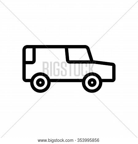 Hearse Icon Vector. Thin Line Sign. Isolated Contour Symbol Illustration