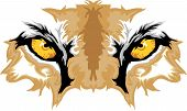 Graphic Team Mascot Image of Cougar Eyes poster