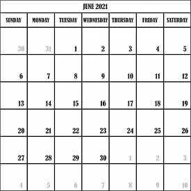 Calendar Planner Month June 2021 On Transparent Backgroun  Ddesigner Cut