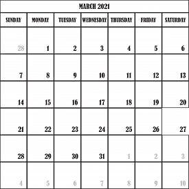 Calendar Planner March 2021 On Transparent Backgroundplanner February 2021 On Transparent Background