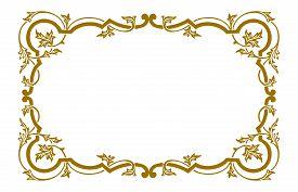 Golden Engraving Pattern Frame, Border Ornament Pattern Frame, Engraving Ornament Pattern Frame, Orn